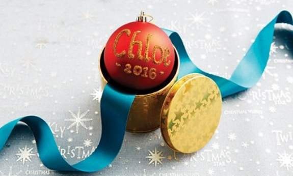 a sample of the many personalised Christmas baubles available