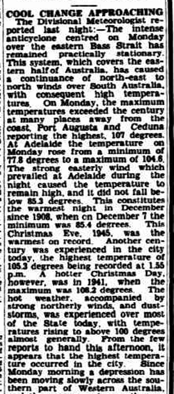 The Advertiser, 26 December 1945, p.6. http://nla.gov.au/nla.news-article48683583