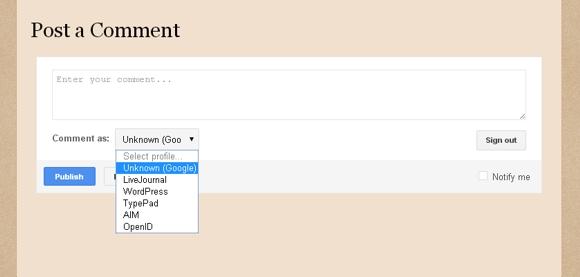 Blogger comment screenshot #1
