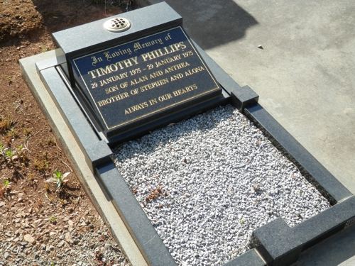 my brother's grave, Cudlee Creek Cemetery, South Australia