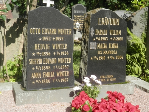 Otto Edvard Winter and his wife Helena Winter grave, Helsinki cemetery