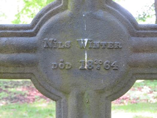 Nils Winter's grave at Hämeenkoski