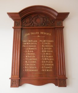 Gumeracha WWI Honour Roll