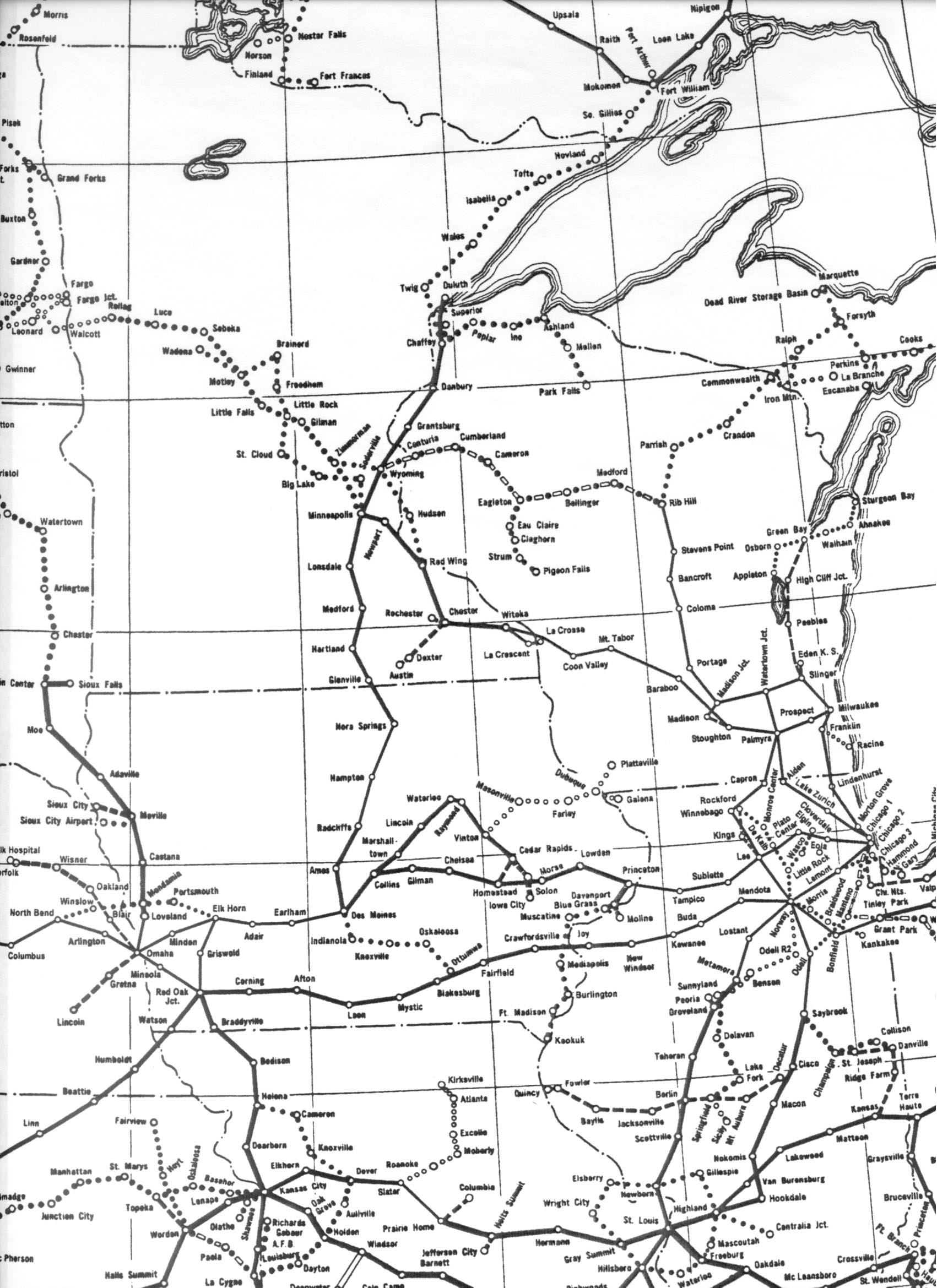 Detailed extract 1 minnesota wisconsin and surrounding areas incl chicago des moines and omaha