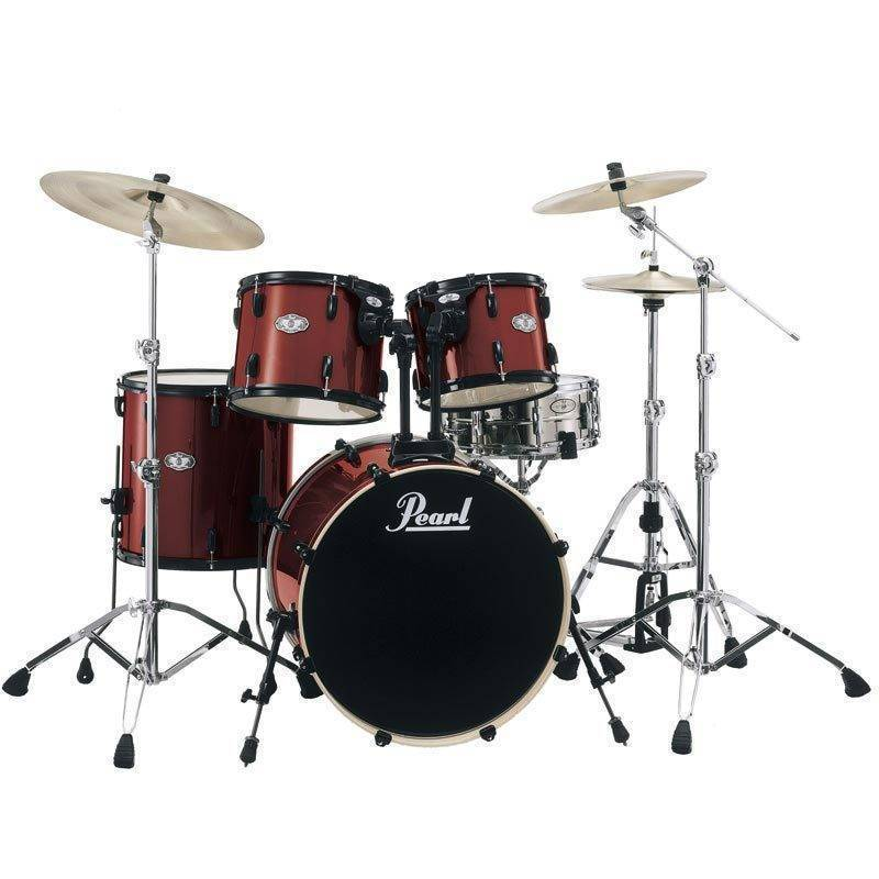Pearl Vision VB 5 Piece Drum Kit   Wine Red   Long   McQuade Musical     Pearl Vision VB 5 Piece Drum Kit   Wine Red   Long   McQuade Musical  Instruments