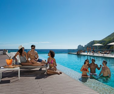 Breathless Cabo San Lucas Resort & Spa - Friends at the Freestyle Swim and Entertainment Zone