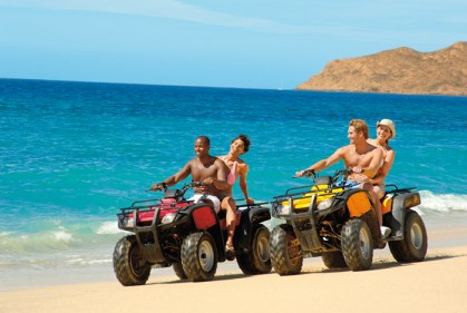Dreams Los Cabos Suites Golf Resort & Spa - Activities - Adults can rent ATVs and ride around on the golden sand beach