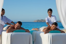 Dreams Los Cabos Suites Golf Resort & Spa - Activities - Couples massage under a palapa on the beach