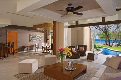 Dreams Las Mareas Costa Rica - Accommodations - Preferred Club Presidential Suite Swim-out Oceanfront Living Room