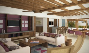 Dreams Playa Mujeres Golf & Spa Resort - Accommodations - Preferred Club Presidential Suite Ocean Front Living Area