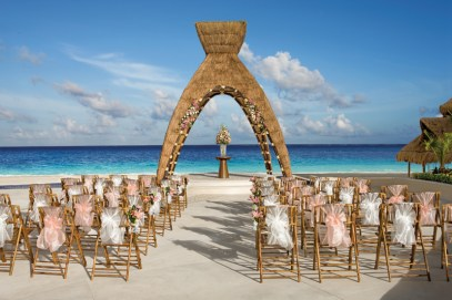 Dreams Riviera Cancun Resort & Spa - Weddings - Reception Area - Wedding Gazebo Day