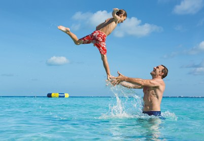 Dreams Sands Cancun Resort & Spa - Grounds - Beach Dad Son