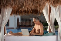 Now Sapphire Riviera Cancun - Activities - Preferred Club Pool Laptop