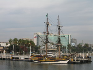 The Tallship Lady Washington on the Pine Ave Pier