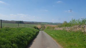 A steep hill in the countryside.