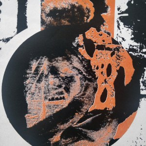Nejd edition #1 - screen printed poster by Markus Samnell. Detail.