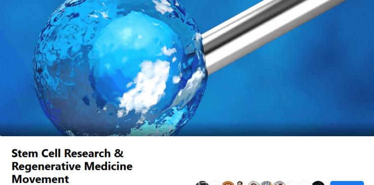stem cell research regenerative medicine longevity facebook group