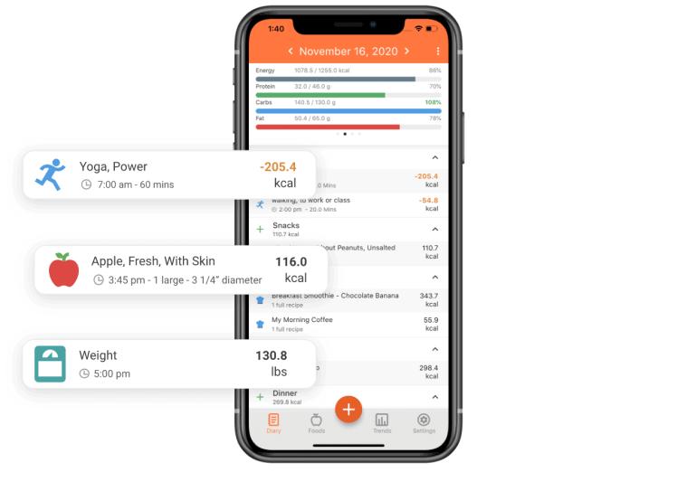 nutrition tracking app cronometer screenshot