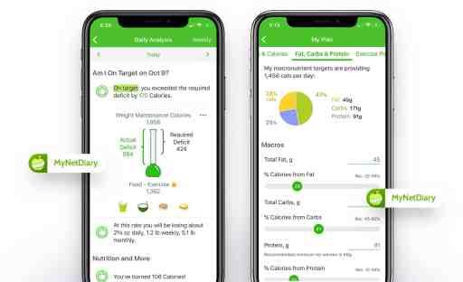 food diary app mynetdiary screenshot