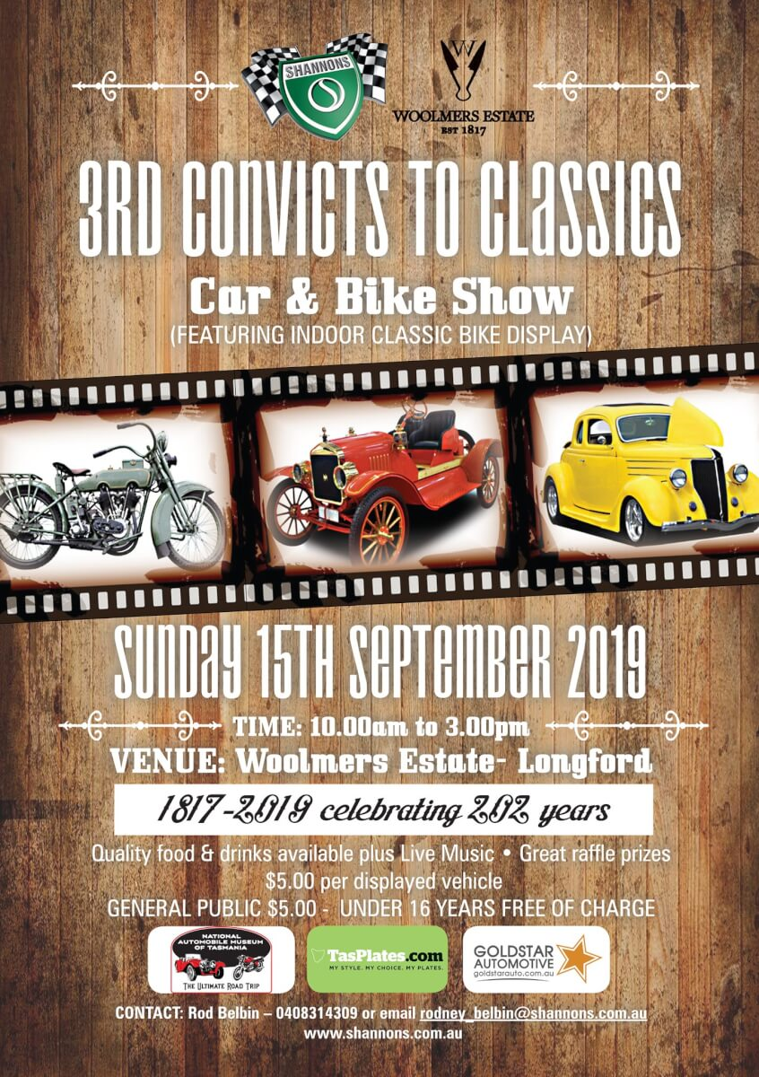 Shannons Classic cars and bikes at Woolmers Estate