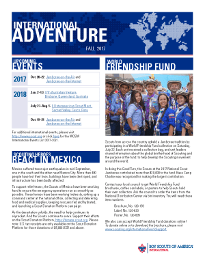 Front page of the Fall 2017 issue of International Adventure.