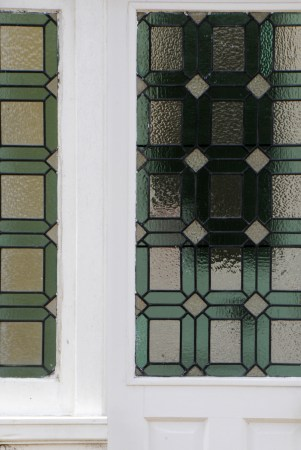 front door glass detail