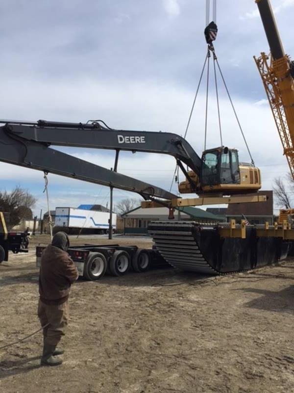 Long Reach Boom Excavator