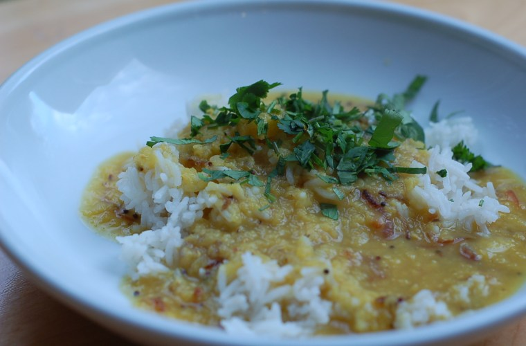 Quick dinner: Instant Pot pot-in-pot dal and rice