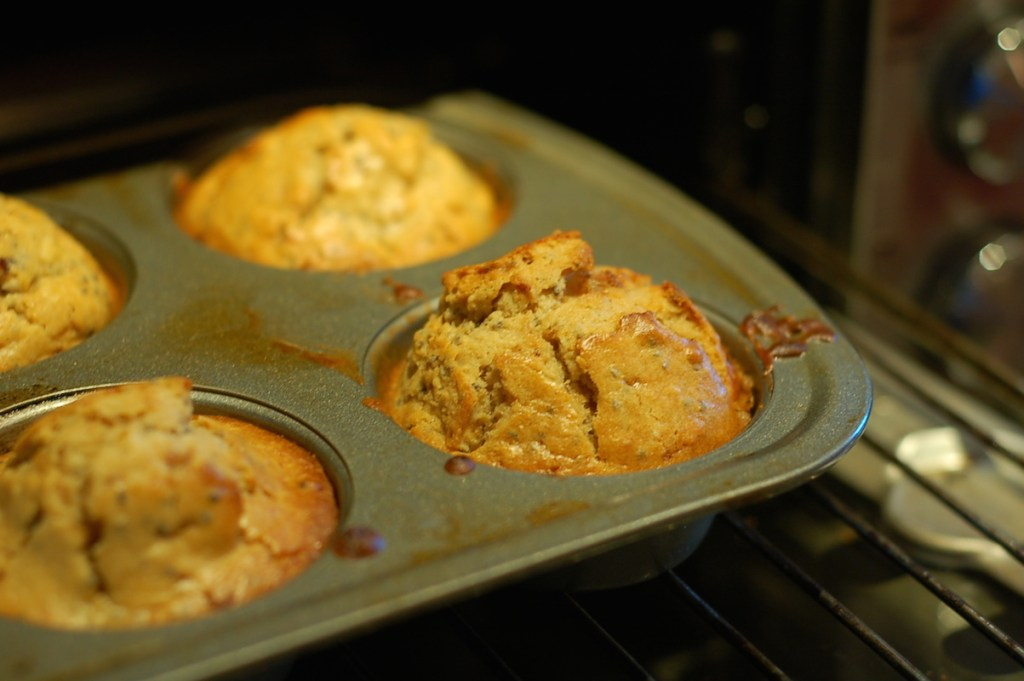 Weekday toaster oven muffin in tin