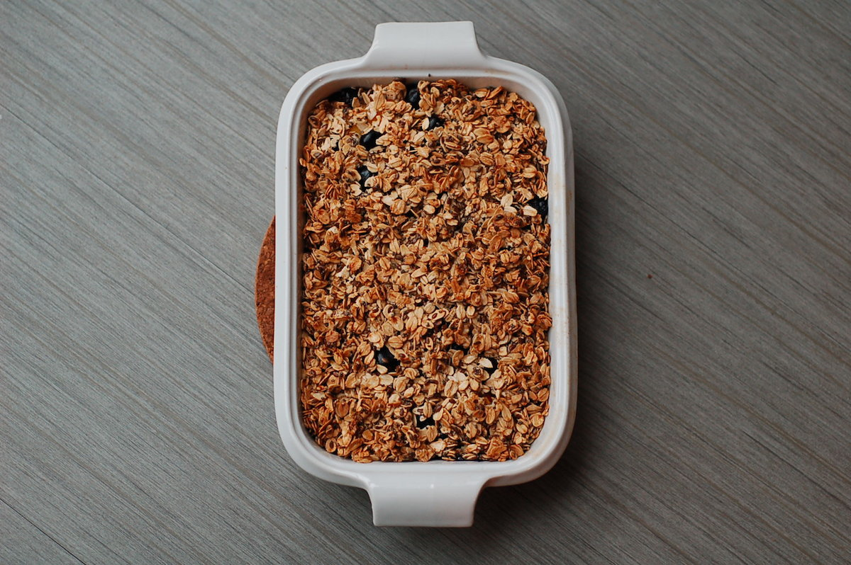 Make the most of the dwindling summer fruit: breakfast crumble