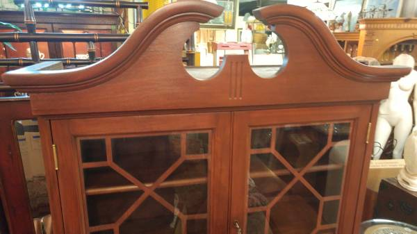 Antique Secretary Desk Drop Front W Book Self Hutch Top