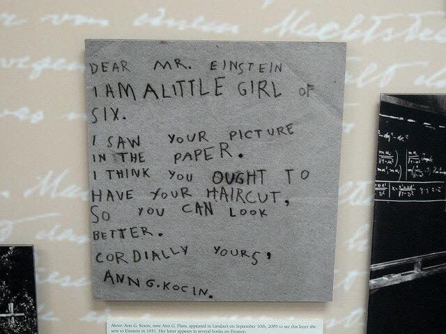 carta per einstein