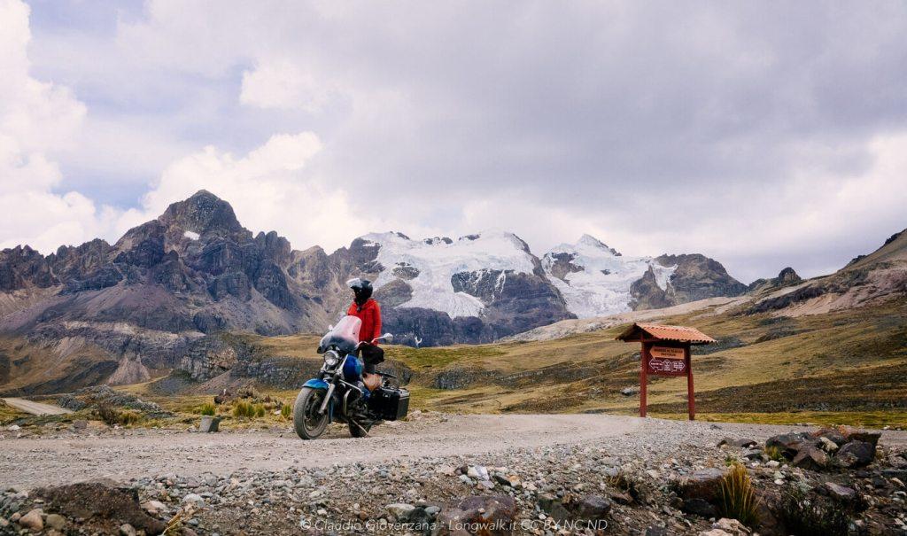 Record di altura con il Guzzi in Perù. 4850