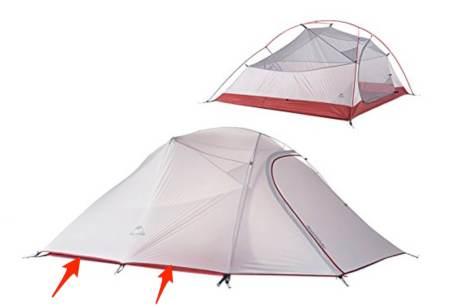 Tenda per accampare nature hike Viaggio