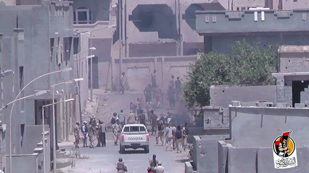 16-08-16 Fighters advancing in Residential neighborhood 2 7