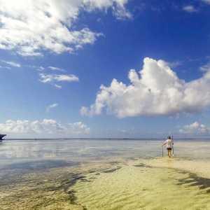 low tide in Watamu