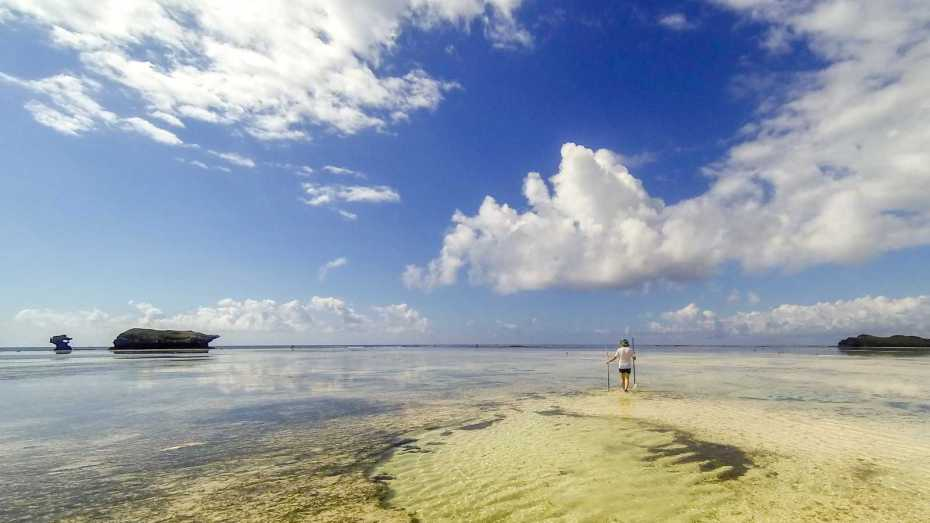 low tide in Watamu