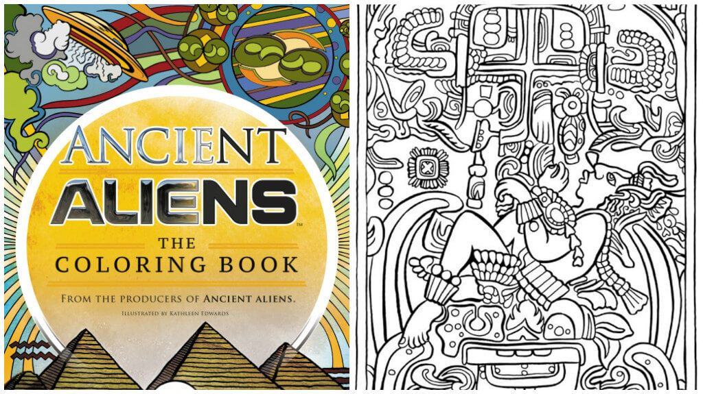 The Coloring Book From The Producers Of Ancient Aliens Has