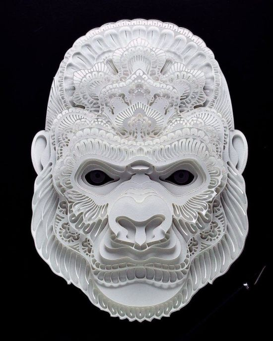 Beautiful Papercut Portraits Of Endangered Animals Around The World