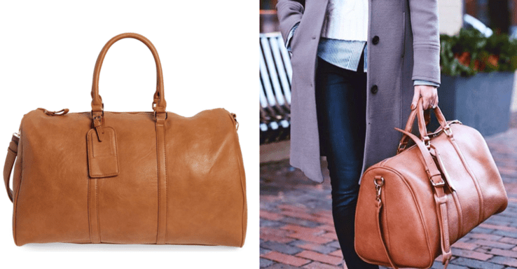Leave Home With A Sole Society  Lacie  Faux Leather Duffel Bag! 92353446acef5