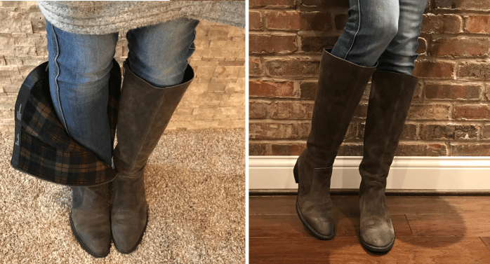 75fc5666560c These Born Felicia Knee High Boots in Black and Rust are marked down to   159.90 (reg.  239.95) at Nordstrom! They have a fleece lining for extra  warmth.