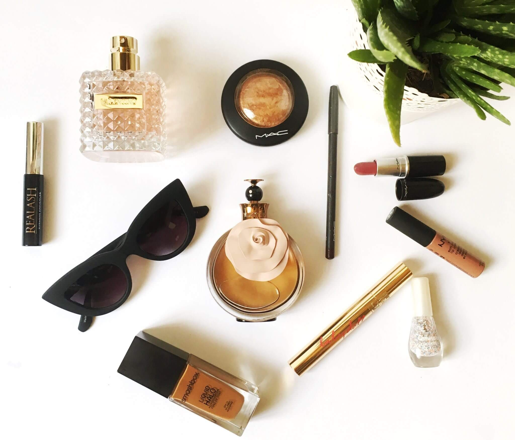 Beauty Favorites; Mac; Gold Deposit; YSL; Smashbox; Valentino Donna; Valentino Valentina;
