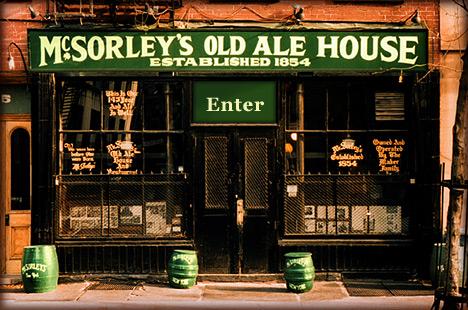 Вид на Америку: McSorleys Old Ale House