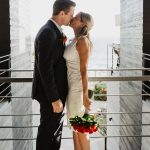 this couple hired an elopement wedding package for their wedding