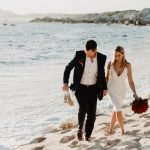 a couple who hired an elopement wedding packages in los cabos