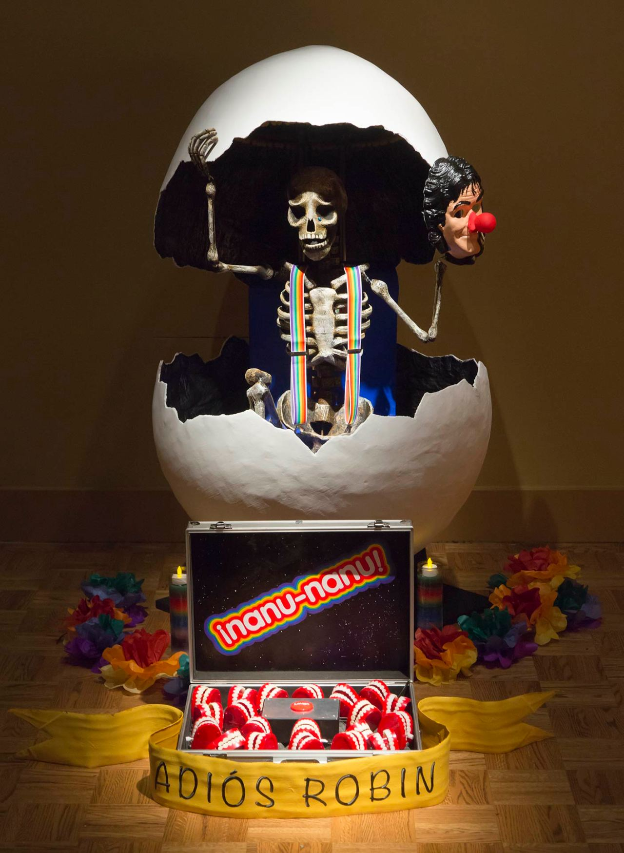 Ofrenda to Robin Williams, featured at the Detroit Institute of Arts in 2014, by Steve Miller and Alex Goecke
