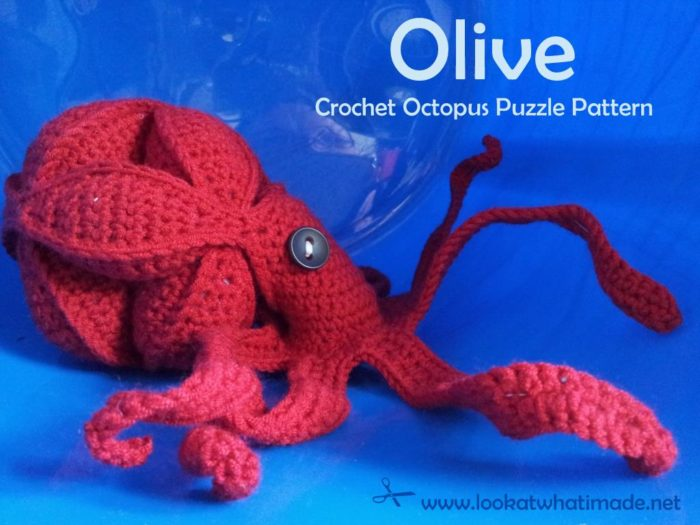 Olive the Crochet Octopus Puzzle Pattern Olive   Crochet Octopus Puzzle