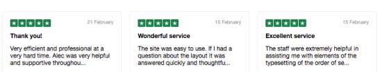 Testimonials often feature patterns in the customer feedback