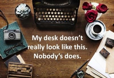 a copywriter's desk, maybe