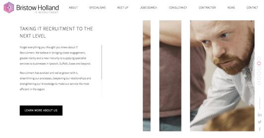 IT recruitment website content